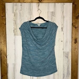 Soft Joie draped neck size large knitted top size